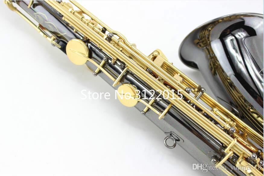 MARGEWATE B-flat Professional Bb Tenor Saxophone High Quality Brass Instrument For Students Black Nickel Gold Plated With Case