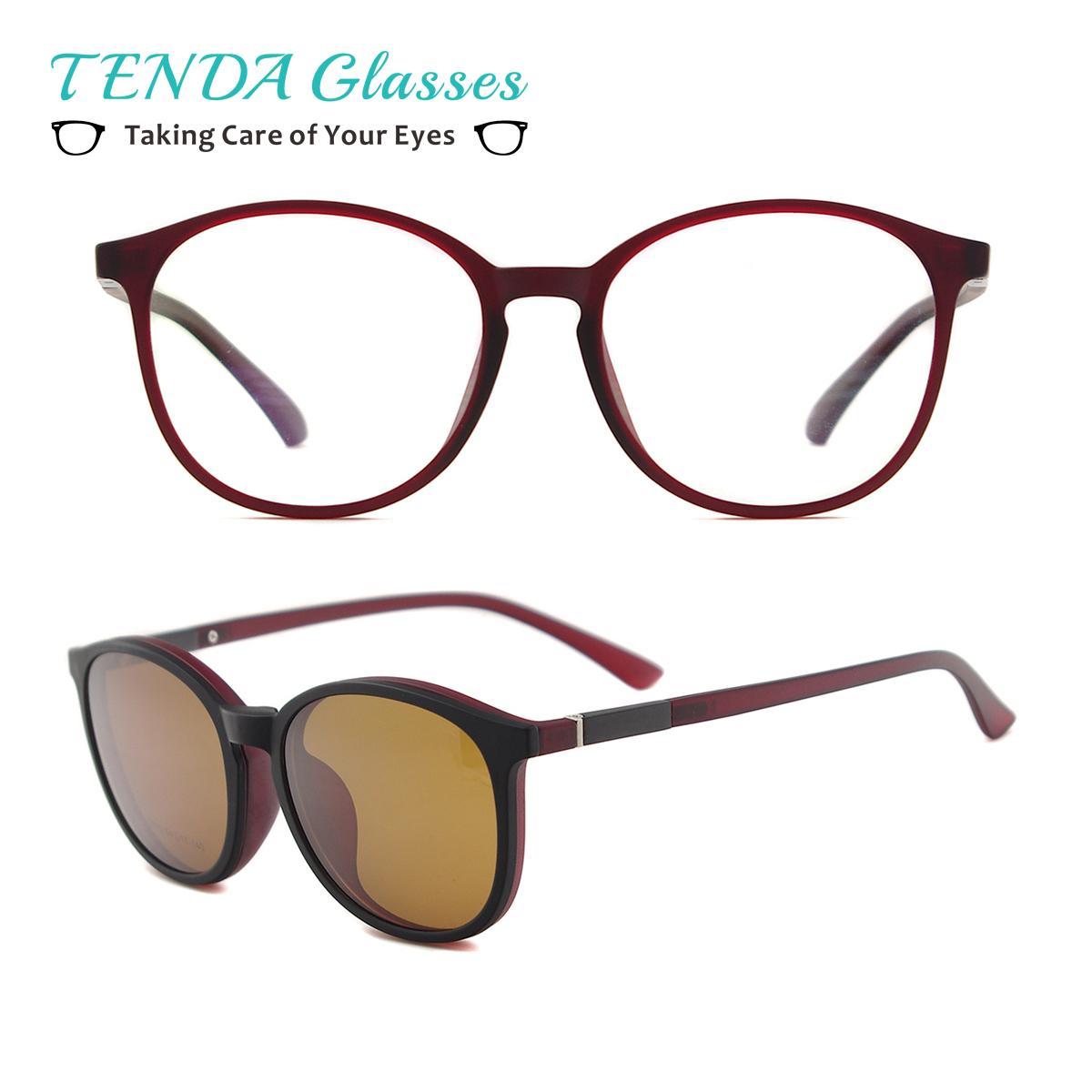 Compre Flexível De Plástico Do Vintage Rodada Óculos De Sol Mulheres  Prescrição Magnética Polarizada Óculos De Sol Para Miopia Lente Com Clip On  D18102405 ... aad42b73a4