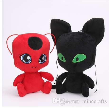 2019 New Miraculous Ladybug Cat Noir Plush Toys Carton Anime Red