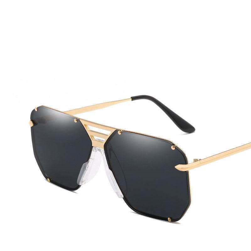 42496b6612d New Style Fashion Trends Simple Square Men Sunglasses Women Retro Metal  Frame Vintage Oversized Sun Glasses UV400 Online Eyeglasses Discount  Sunglasses From ...