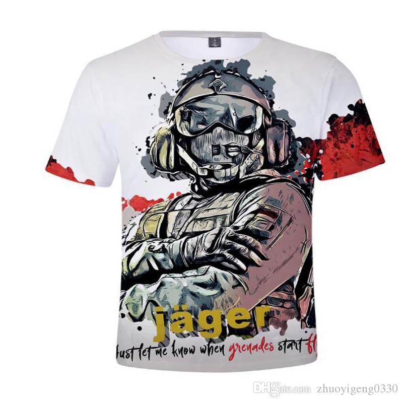 15fa3c583 Aikooki Hot Game Rainbow Six Siege T Shirts 3D Men/Women T Shirt Cotton  Short Sleeve Shirt Boys/Girls T Shirt Fashion Tops Tees Cool T Shirt  Companies 24 ...