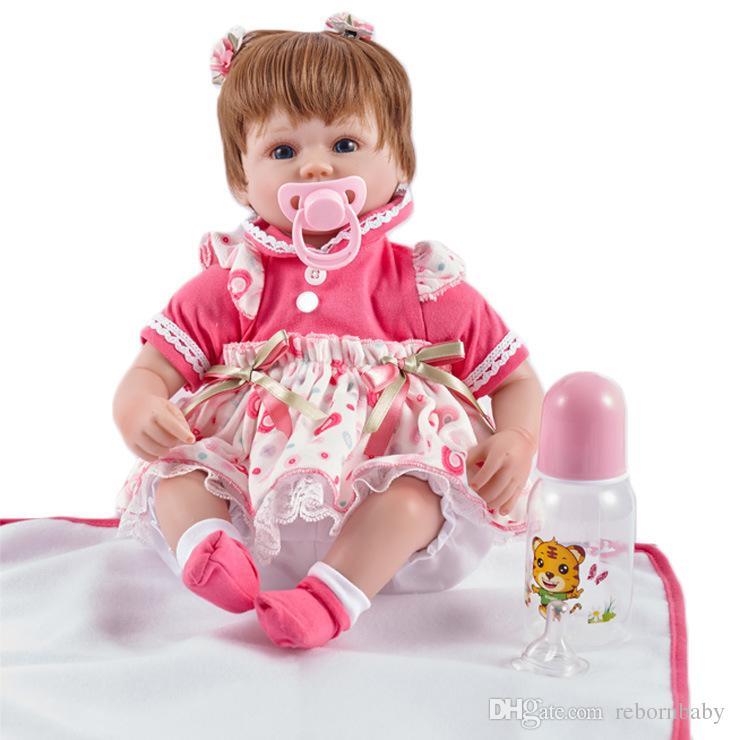 Großhandel Realistische Reborn Baby Doll Mädchen Baumwolle Körper ...
