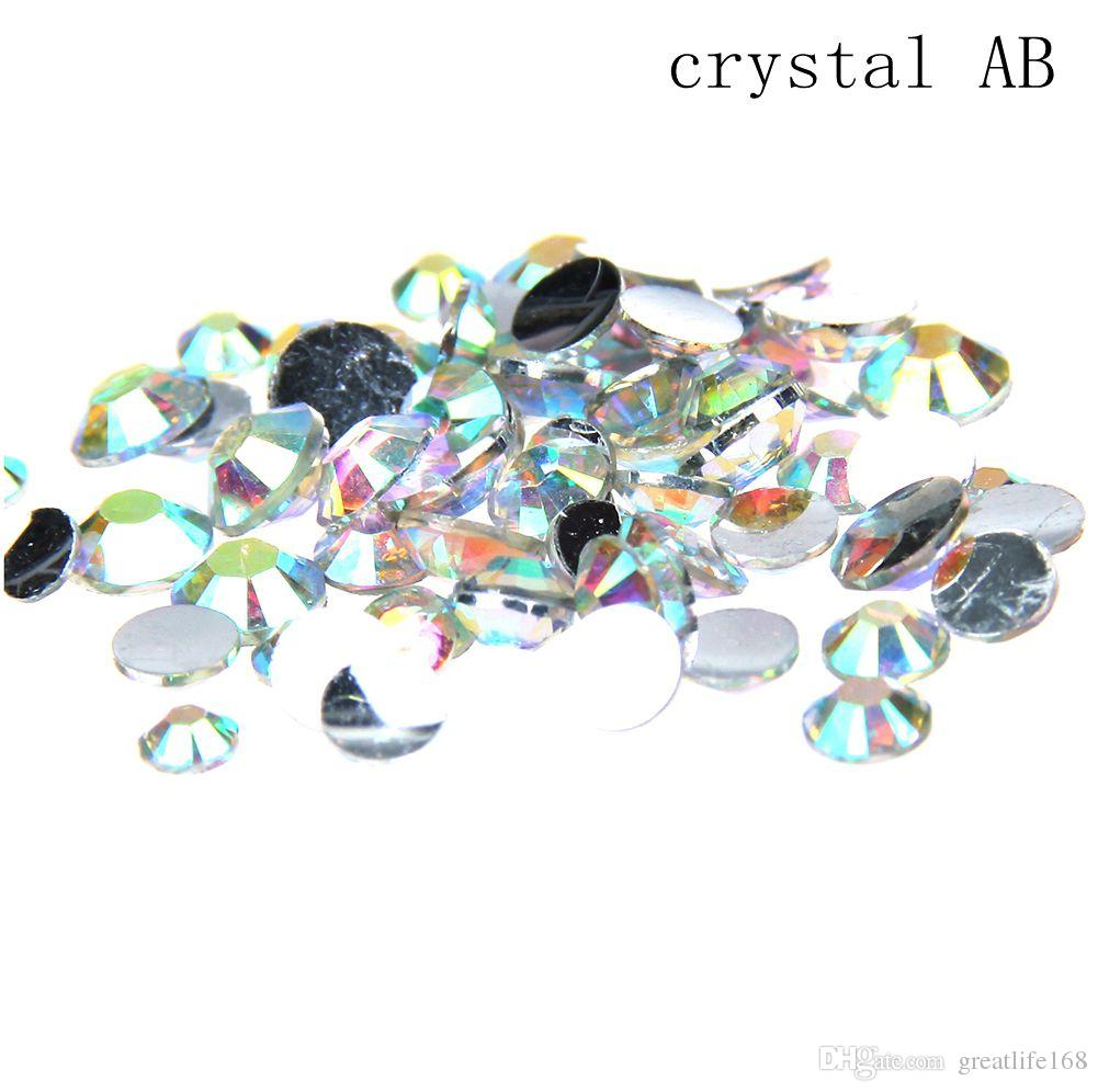 77a8dbbecb20 Crystal AB Color Glue On Resin Rhinestones 2 8mm Round Flatback Non Hotfix  Crystals And Stones DIY Nails Art Phone Cases Nail Artist Nail Foils From  ...