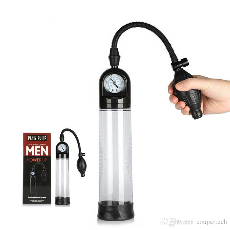 New Penis Pump Penis Enlargement With Pressure Gauge Penis Vacuum Pump  Dildo Enlarger Extension Pump Adult Products Toys For Men Pump For  Footballs Best ...