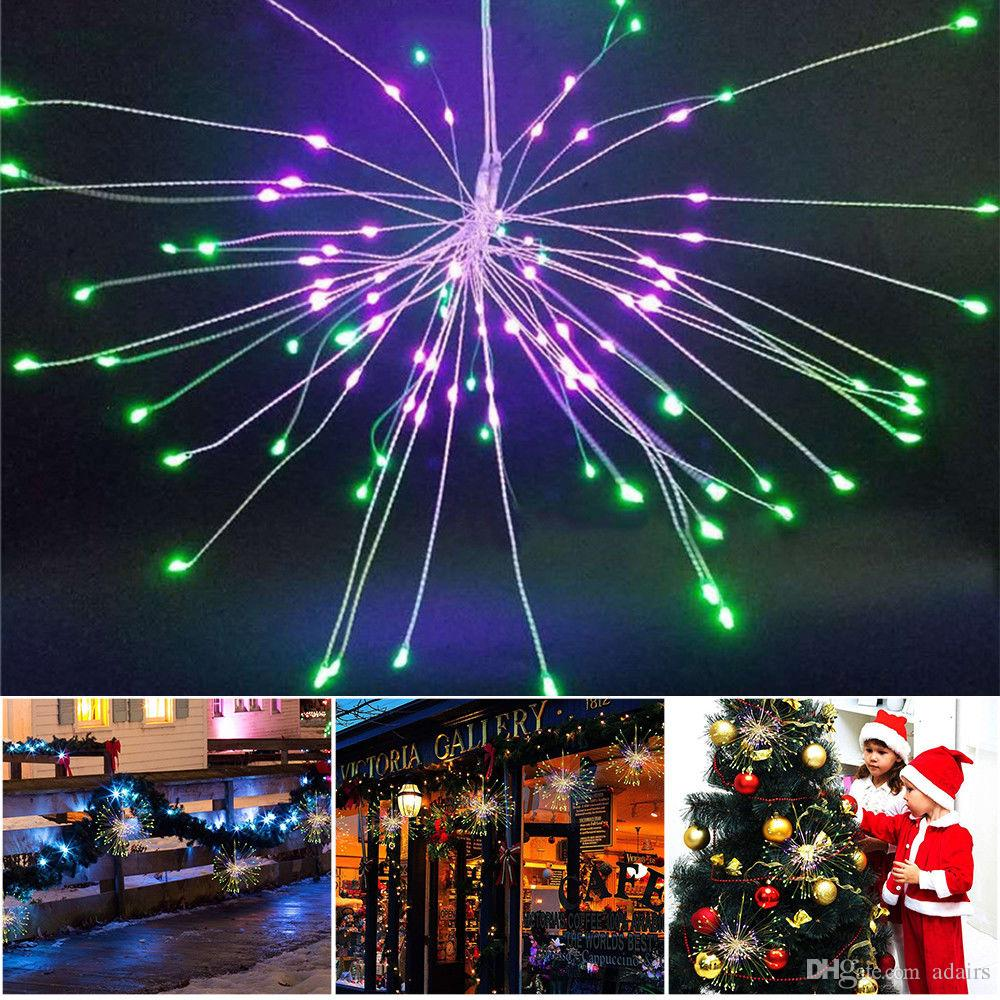 Firework Led Copper Wire Strip String Lights For Wedding Centerpiece Exterior Wiring Lighting Decoration