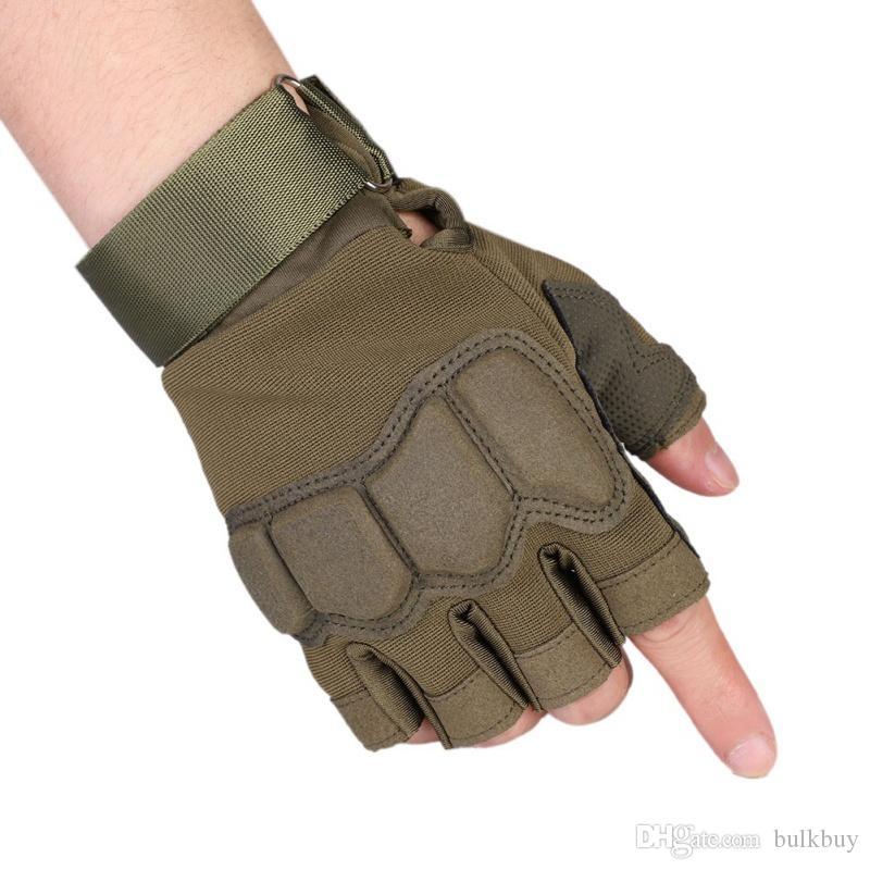 Exército tático Ao Ar Livre de Combate Militar Luvas de Bicicleta Sem Dedos Paintball Meia Luvas de Dedo Camping Caça Ciclismo luvas