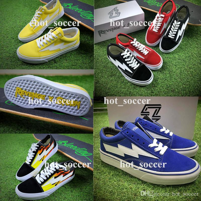 sale perfect REVENGE x STORM Old Skool Kanye High-Top Adult Women Men's Canvas Shoes Skateboarding Shoes Casual Sneaker Skate Shoes reliable clearance many kinds of 75yjOGxno