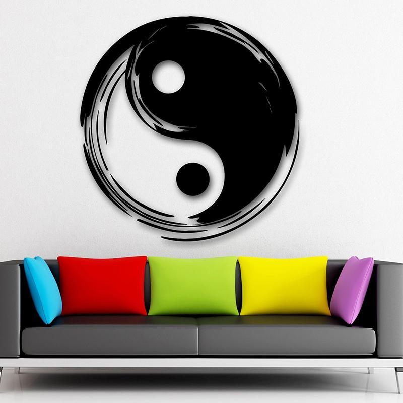 Grosshandel Yin Yang Taijitu Wandtattoos Chinesische Philosophie