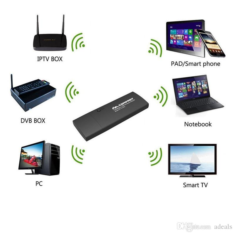 COMFAST CF-926ACV2 1200M 802.11AC portátil de doble banda 2.4 + 5 Ghz USB 3.0 Wireless WiFi adaptador de antena de CA Gigabit