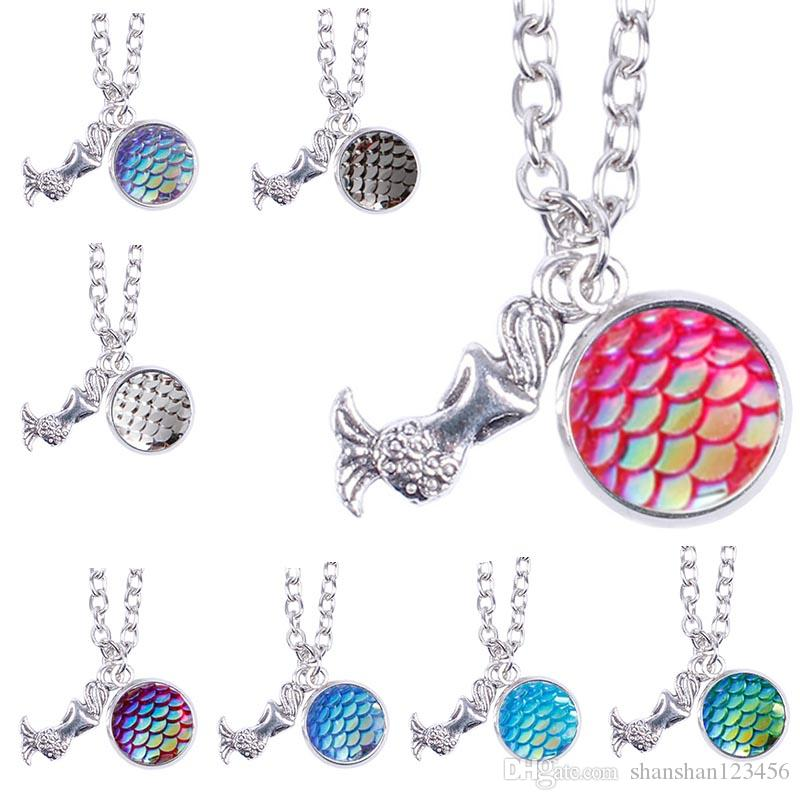 Delivery Moogle Birthday Card Final Fantasy Themed: Wholesale Mermaid Scale Necklace, Fish Scale Necklaces, 12