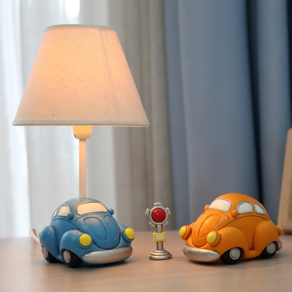 Lamps & Shades Lovely Car Model Kids Table Lamp E14 Ac 110v-220v Children Room Led Desk Lamp Reading Lamp Led Switch Button Bedside Lamp