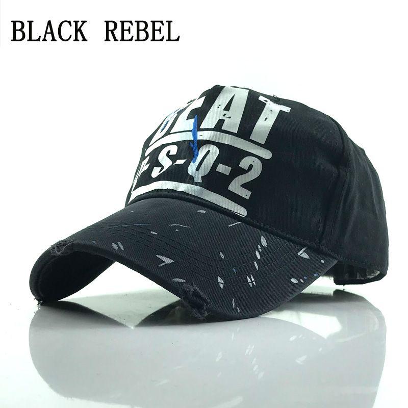 Compre Rebel Negro 100% Gorra De Béisbol Lavada Sombreros Snapback Otoño  Sombrero De Verano Para Hombres Mujeres Gorras Casquette Sombreros Bordado  De La ... d15dc375cb6