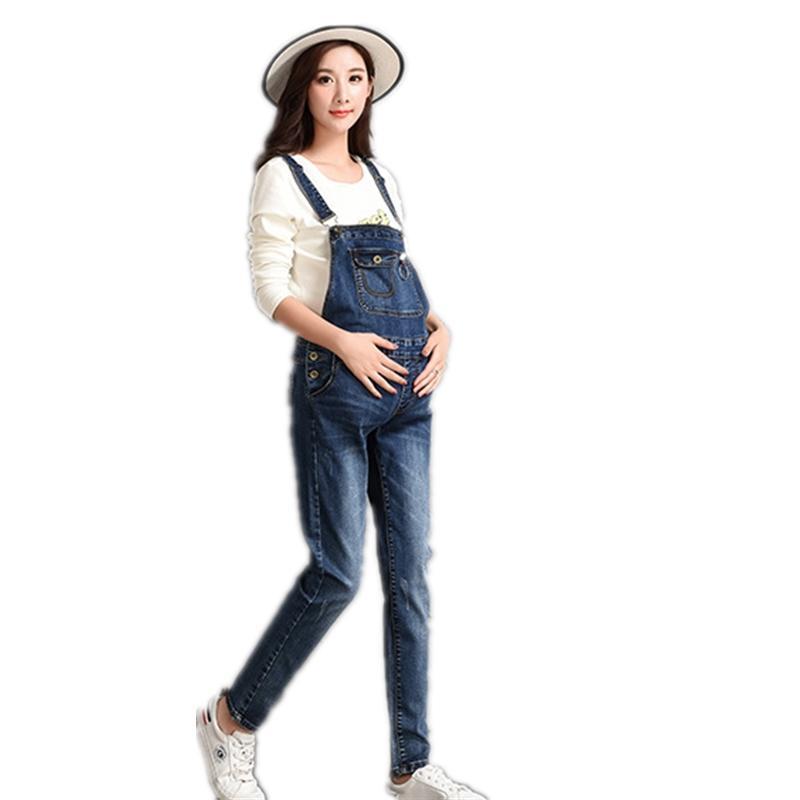 ac7b32fad Compre Brand Design Maternity Denim Jumpsuite Denim Overol Jeans De  Maternidad Para Mujeres Embarazadas Pantalones De Embarazo Otoño Invierno  Invierno A ...
