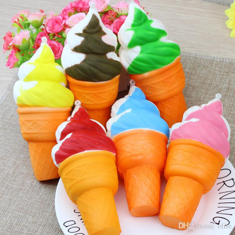 Good 3D Cute Jumbo Rare Squishy Charm Ice Cream Phone Straps keychain Squishy Slow Rising Squeeze Squishies Toys For Kids Toy Christmas gift