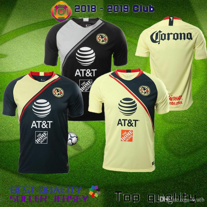 081c347ee19 2019 2018 19 LIGA MX Club America Home Away Third Yellow Soccer Jerseys 2018  I.RENATO Goalkeeper MATHEUS 17 18 O.PERALTA Football Shirt Uniform From  Wutb