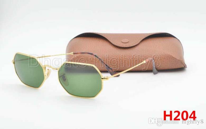 Compre Excelente Nueva Llegada Diseñador Gafas De Sol Octogonales ...