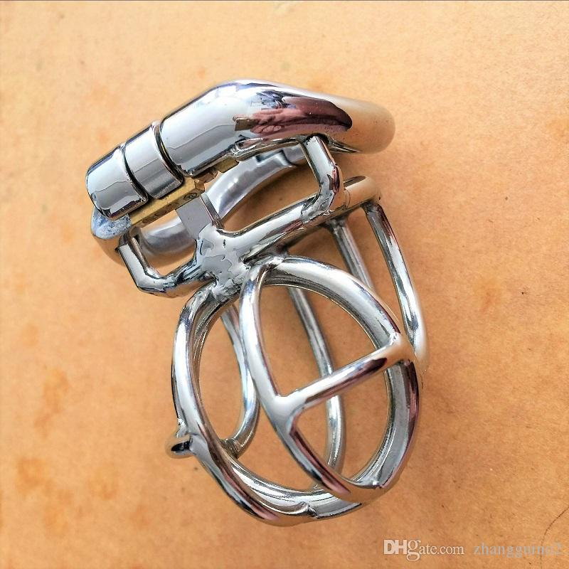 عكس تصميم المقاوم للصدأ الشبح قفل ذكر العفة الجهاز ، قفص الديك ، قفل العذرية القضيب ، خاتم الديك ، حزام العفة s017