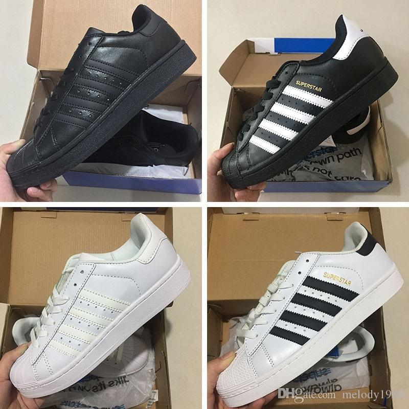 innovative design 9d69f edd91 Acquista 2018 Adidas Originals Superstar W Sneakers Classic White Hologram  Iridescent Junior Superstars 80s Pride Sneakers Super Star Women Uomo Sport  ...