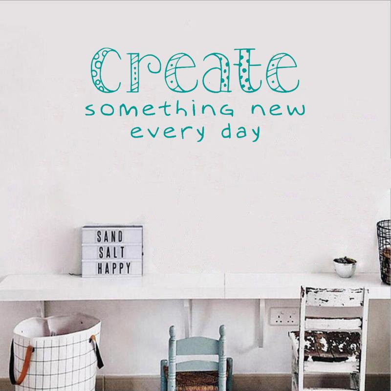 art classroom wall sticker quotes create something new everyday