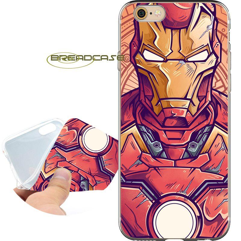 coque iphone 6 iron man silicone
