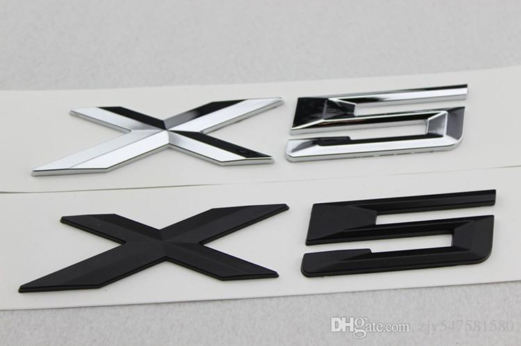 Haute Qualité Nouvelle Voiture Style 3D Chrome Argent et Noir X1 X3 X5 X6 GT Lettres Emblème Arrière Tronc Botte Badge Logo Autocollant Pour BMW
