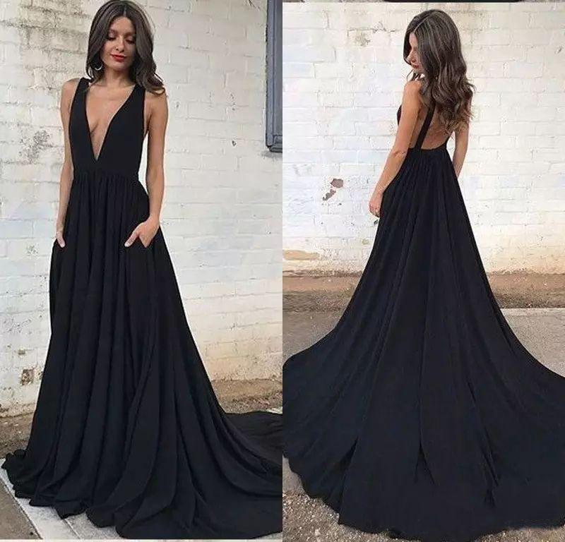 Imagenes de vestidos de noche largos 2019