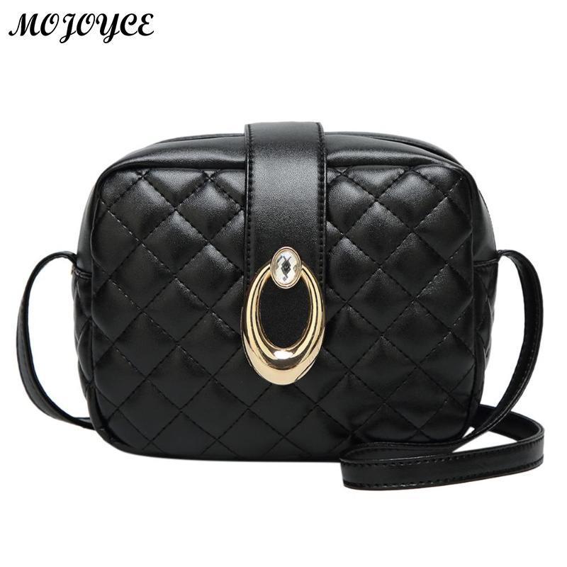 fc27e51d7091 Women Handbag Pu Leather Plaid Messenger Bags Sac a Main Shoulder Bags  Ladies Crossbody Tote Simple Design High Quality Handbags