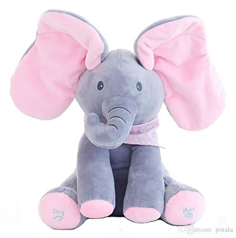 2019 Electronic Elephant Stuffed Plush Animal Interactive Play Ear