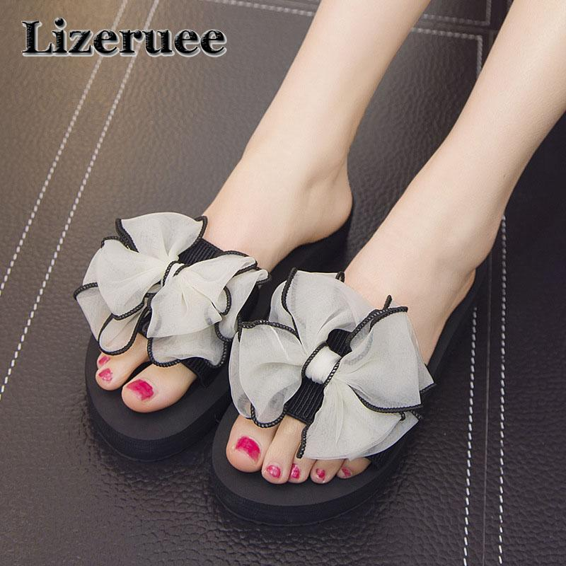 91eb1ffa8220 2018 Bow Thong Jelly Shoes Woman Jelly Flip Flops Women Sandals ...