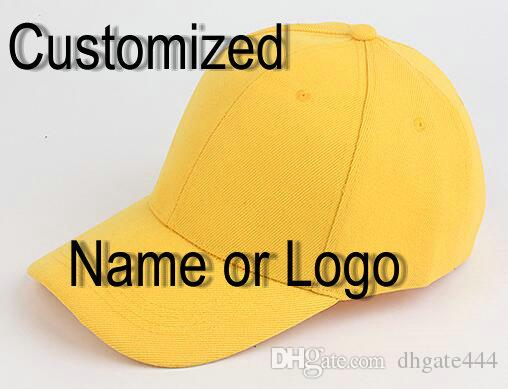 e6fd2e8d6 Customized Baseball Cap Adult curved brim version peaked caps Snapback Hats  Accept Custom Made Flat Embroidery Logo or Name 006