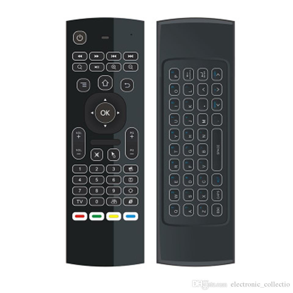 X8 Air Fly Mouse MX3 Backlit 2.4GHz Wireless Keyboard Remote Control Somatosensory IR Learning 6 Axis without Mic for PC Android TV Box IPTV