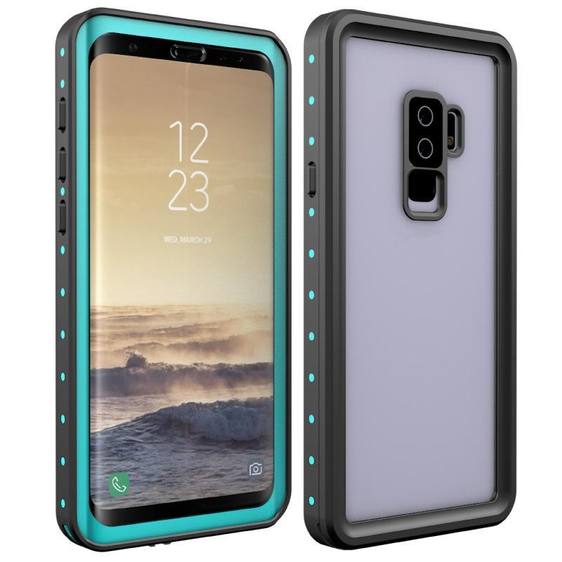 sale retailer bc025 178af Waterproof Armor Case For Samsung Galaxy S9 S9 Plus Redpepper Dot Series  IP68 Swimming Slim Dustproof Shockproof Phone Full Cover Retail Box