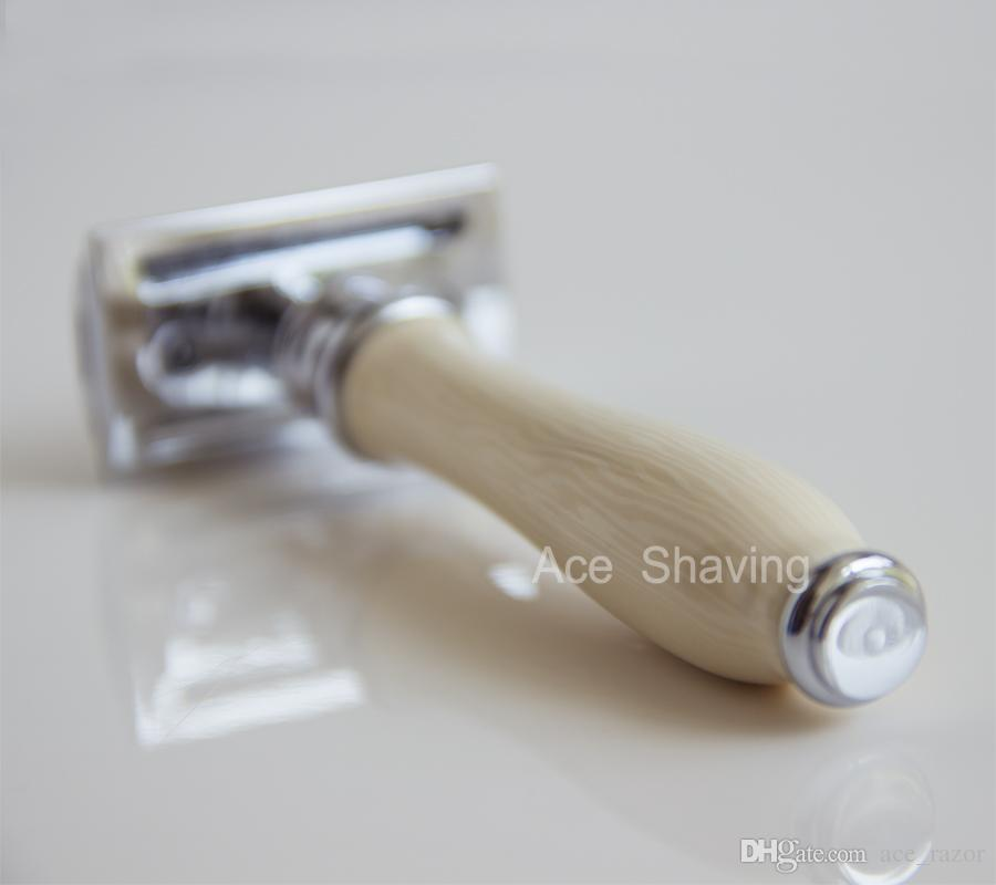 Stainless Safety Razor Man Beard Shaving With Of Double Edge Dorco Blades Gift Box