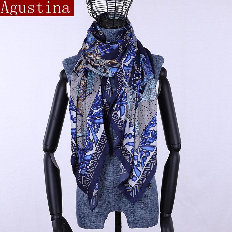 562c9a7b8c8f Acheter 100% Foulard Carré En Soie Imprimer Femmes Grand Hijab Étoles  Foulards Été Femmes Qualité Mode Luxueux Femme Pour Dames Châle De  25.51  Du ...