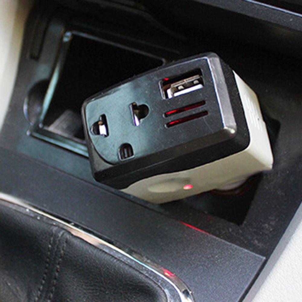 Araba Inverter Güç Kaynağı 10 w DC 12 V / 24 V AC 220 V Dönüştürücü Trafo Dizüstü Dizüstü Telefon Şarj için Evrensel USB DDA288