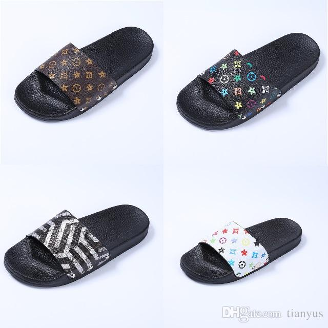 65cd04426460 2018 Luxury Women Slippers Summer Fashion Wide Flat Slippery With Thick  Sandals Slipper Flip Flop Beach Shoes Slides For Women L 57 Moccasins For  Women ...
