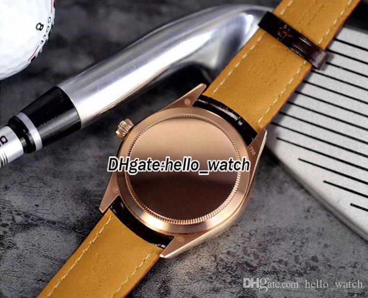 رخيصة جديد جديد 39 ملليمتر cellini moonphase 50535 M50535 الأبيض الهاتفي التلقائي رجل ووتش روز الذهب حالة جلدية حزام الياقوت الساعات hello_watch