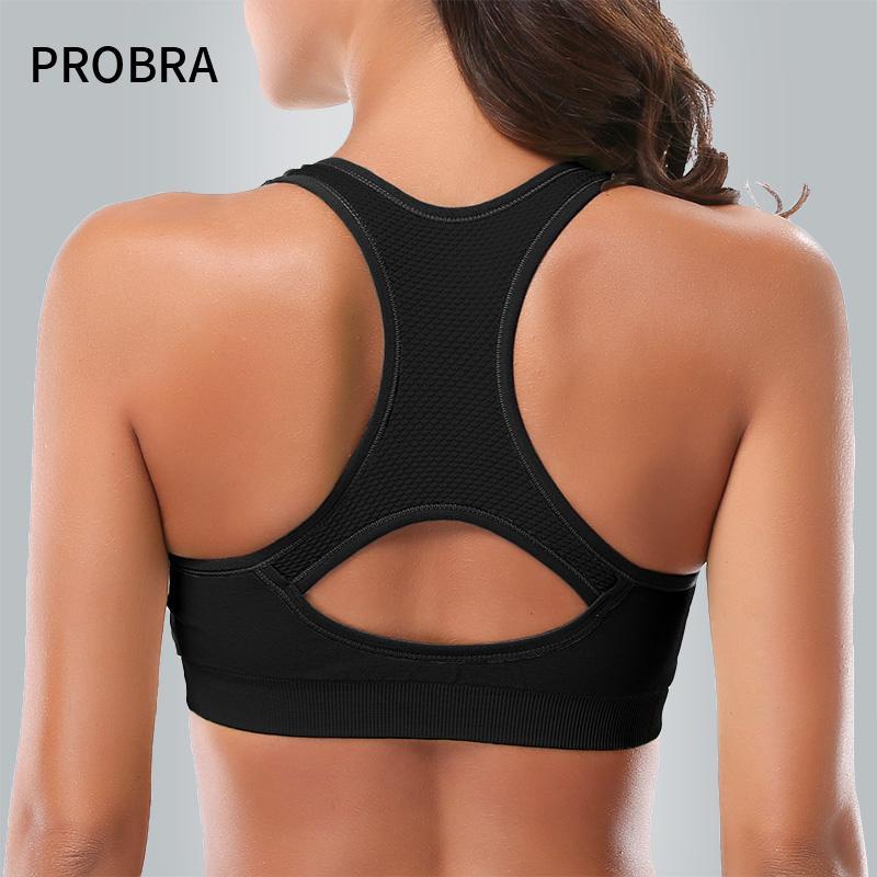 0d8d8c637 PROBRA Sports Bra Large Size Full-support High Impact Shockproof Podded  Vest for Fitness Running Yoga Gym Sports Bras Cheap Sports Bras PROBRA Sports  Bra ...