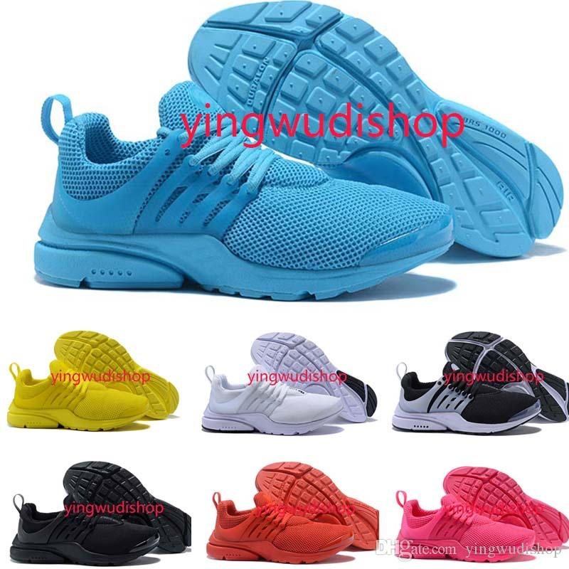 online retailer c554e a7b70 Presto Running Shoes Men Women Ultra BR QS Yellow Prestos Black White Oreo  Outdoor Jogging Mens Trainers Sneakers Size 36 46 Black Running Shoes  Running ...