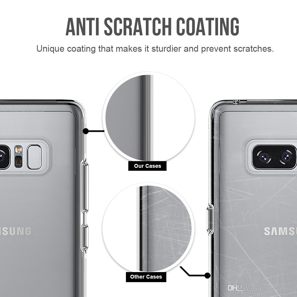 For iPhone SE2 9 X Plus Samsung A8 Plus2018 1.33mm Slim Independent Button Anti Scratch Coating Tpu Pc Double Protection Phone Case