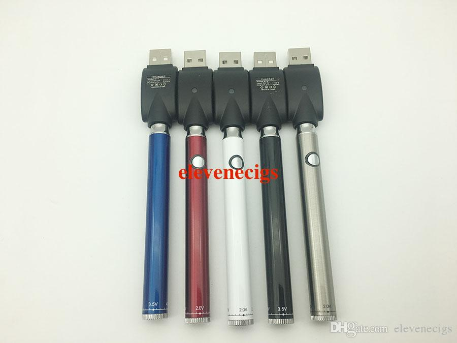 Neue Manuelle Evod Bud vorheizen CO2 öl batterie 350 mah wiederaufladbare variable spannung pen bottom twist vorwärmen funktion e cig 510 gewinde