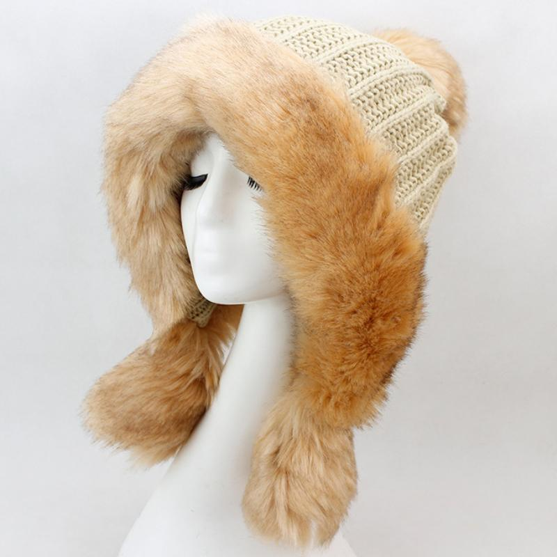47e94aa28f6 HT2119 Warm Winter Hats for Women Thick Russian Fur Hat Ladies ...