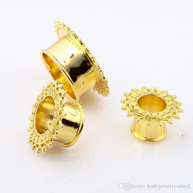 مزدوج متوهج الجوف نفق اللحم ثقب الجسم مجوهرات الأذن تمتد المقابس المجوهرات والأنفاق 8-18mm