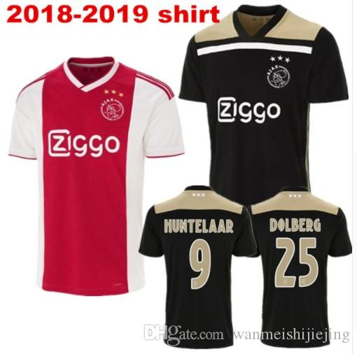 6dd64de62 2018 2019 Ajax SOCCER JERSEY 18 19 DOLBERG Home Away ZIYECH KLAASSEN ...