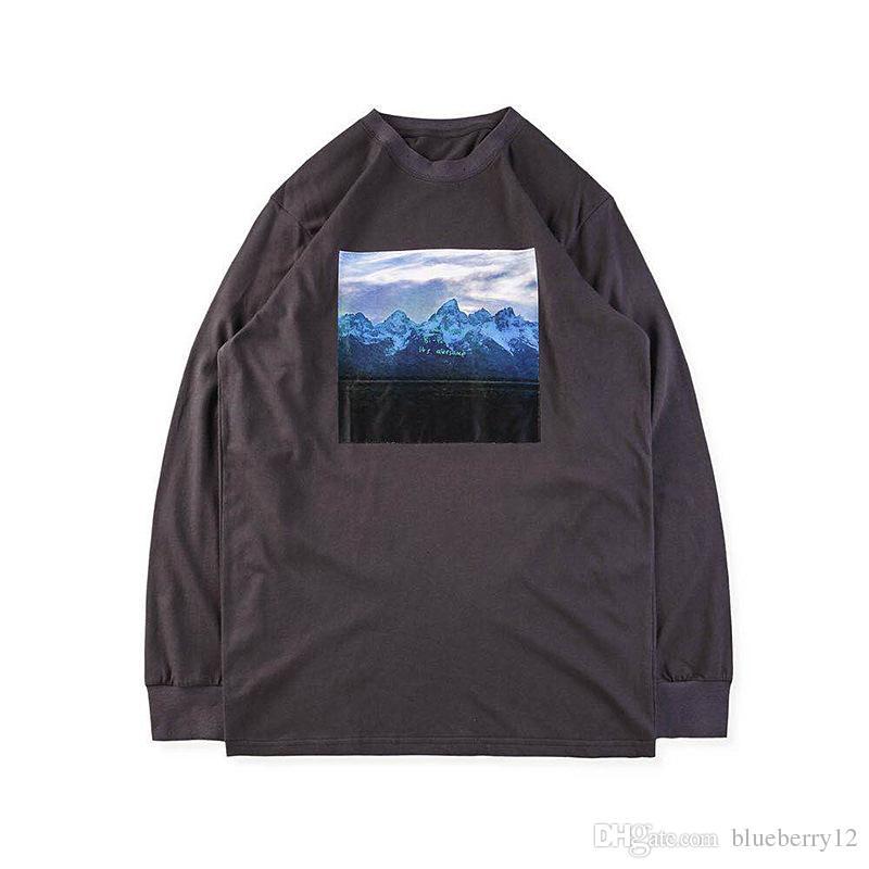 fce4bac6e42 Kanye 2018 T Shirt Kanye West YE Long Sleeve Tees Hip Hop T Shirts ...
