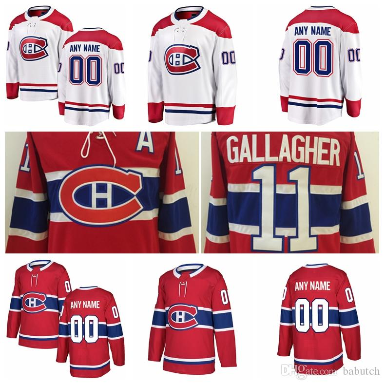 Customized Montreal Canadiens Hockey Jerseys Stitched Any Number Name 11  Brendan Gallagher A 20 Nicolas Deslauriers 21 David Schlemko 24 P Montreal  ... 5e5e79765