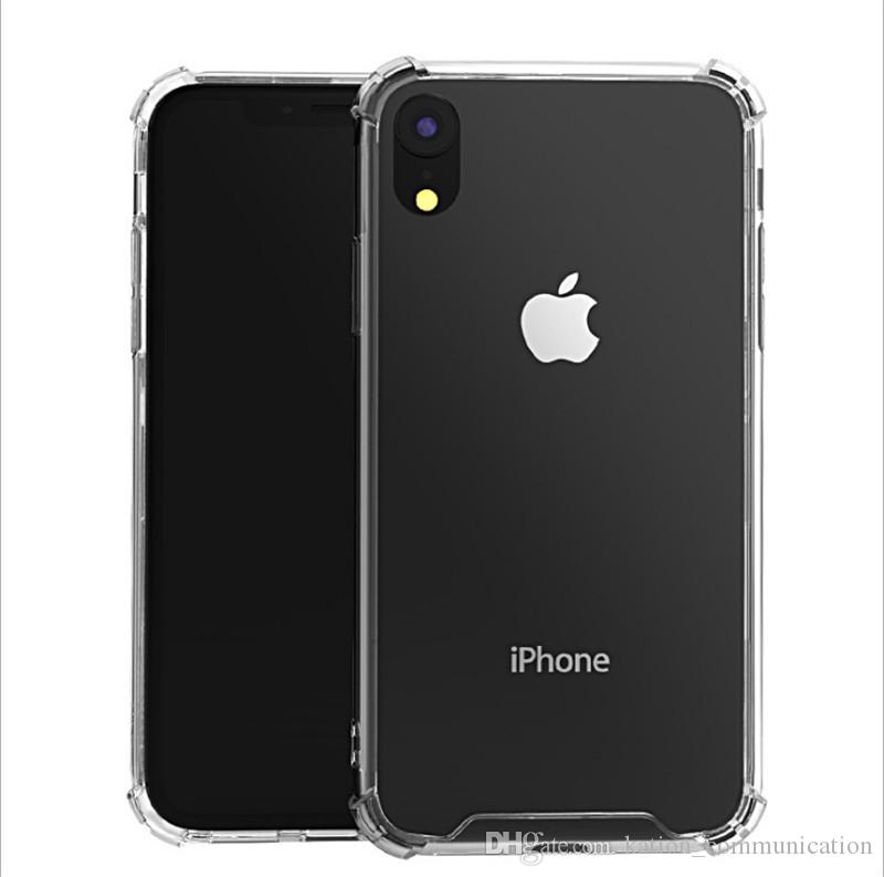 buy popular a45f0 41cb5 Shockproof Transparent Case For iPhone Xr Xs Xs Max 8 6S Plus PC TPU Thick  1.0mm Cystal Combo Case Cover For Iphone7 plus