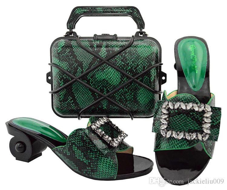 Очаровательные оранжевые женские туфли со стразами в африканских классических туфлях в комплекте с сумочкой GL02, каблук 6,5 см