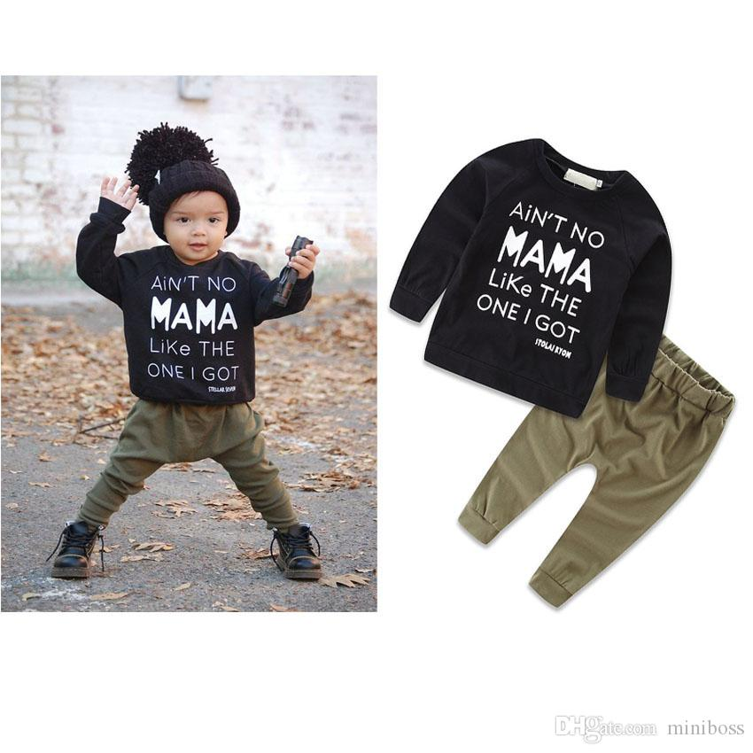 b74dac7ff Kids Boys Sport Clothing Sets Infantil Newborn Military Army T Shirt Pants  Baby Boys Clothes Suits Spring Children Tracksuits Canada 2019 From Miniboss,  ...