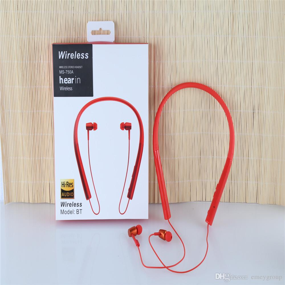 e30c11ff51a New SONY MS 750A Bluetooth 4.1 Wireless Headphone Stereo Sport Earphone  With MIC Strong Bass Clear Voice For Iphone 8 7 Samsung S8 S9 NOTE8 Wireless  ...